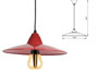 Suspension design rouge 230v e27 avec ampoule filament LED 8w 800lm fournie
